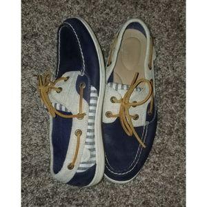 Womens Sperrys 8.5 Navy blue boat shoes